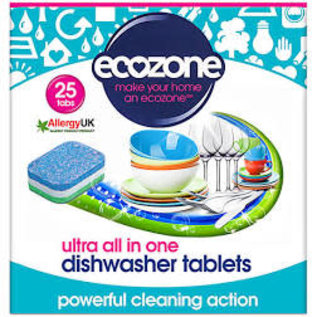 Ecozone Eco zone Plastic Free Dishwasher 25 Tablets