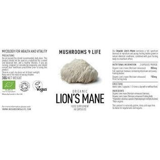 Mushrooms 4 Life Mushrooms 4 Life Organic Lion's Mane 60 Caps