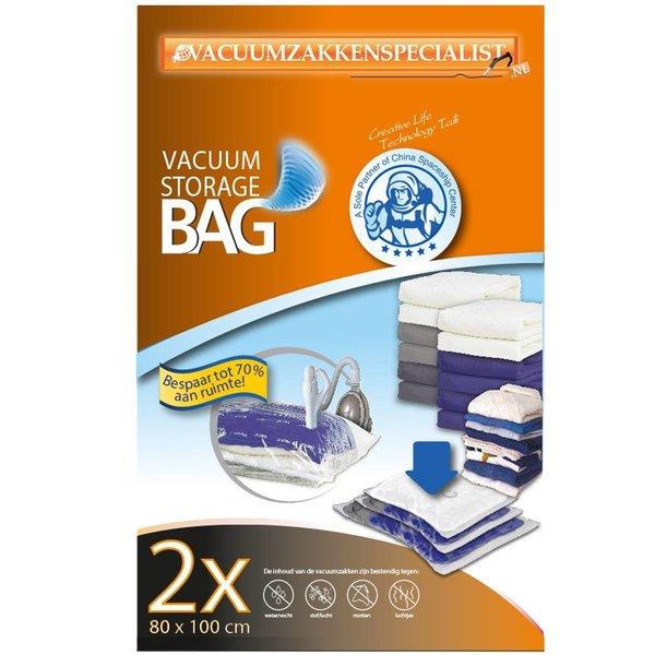 Pro Vacuumzakken 80X100 cm [Set 2 Zakken] (Geschikt voor Pro Vacuumpomp)