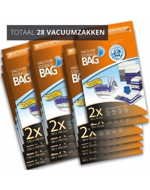 Pro Vacuüm Opbergzakken Home XL [Set 28 Zakken]