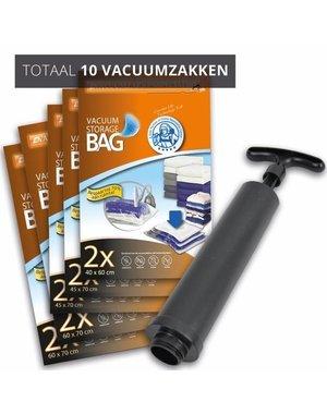 Pro Pakket Vacuumzakken Travel [Set 10 Zakken+Pomp]
