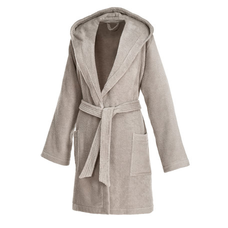 SAND | SHORT ROBE WITH HOOD