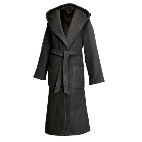 ANTHRACITE | HOODED ROBE LONG
