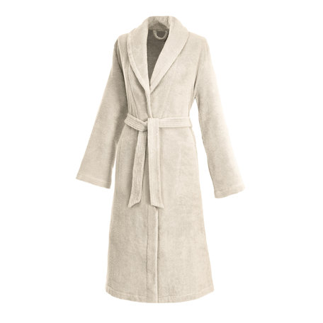 CREAM | LADIES'  ROBE WITH SHAWL COLLAR