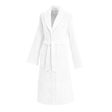 WHITE | LADIES' ROBE WITH SHAWL COLLAR