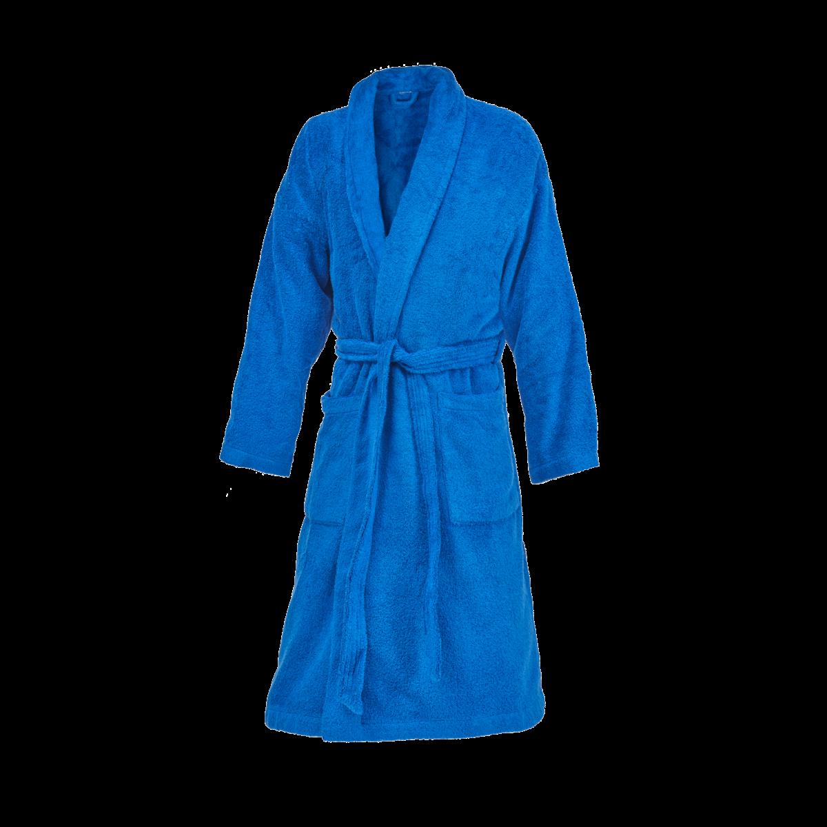 basic ROYAL BLUE   SHAWL COLLAR  ROBE UNISEX