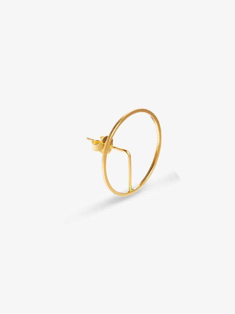 Earring Element Frame Gold
