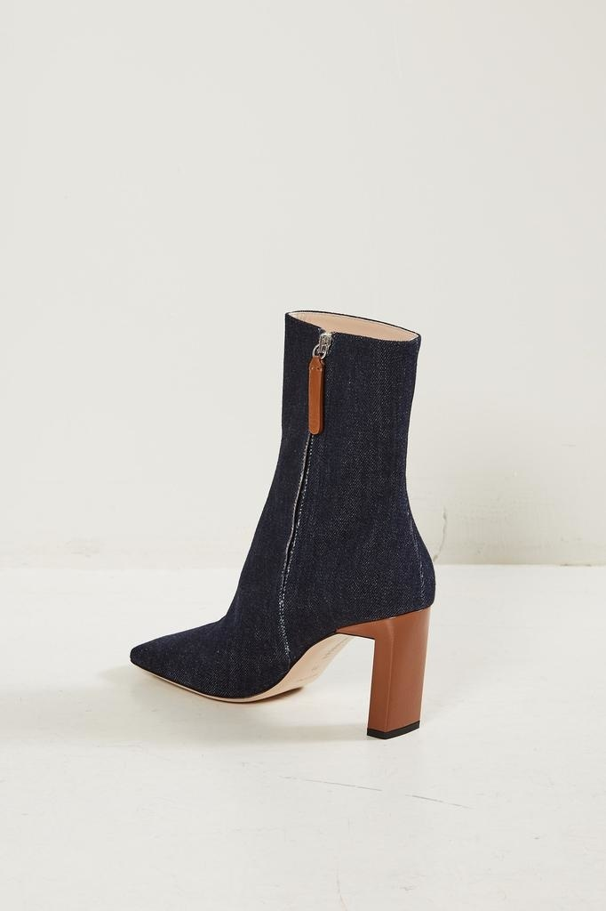 Wandler - Isa cotton leather mix boot