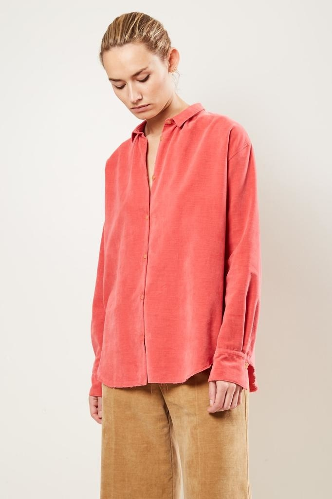 Forte Forte slubbed cotton velvet shirt