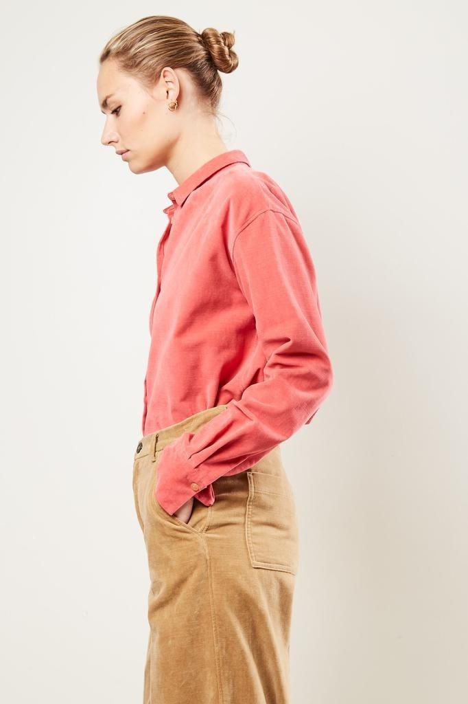 Forte Forte - Slubbed cotton velvet shirt
