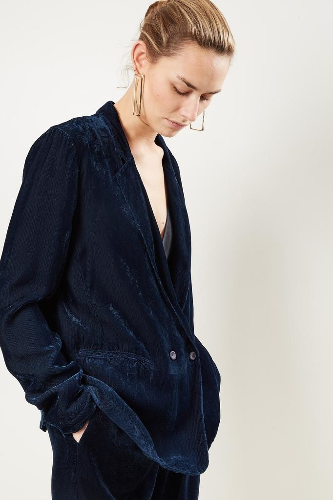 Forte Forte fluid ribbed velvet jacket