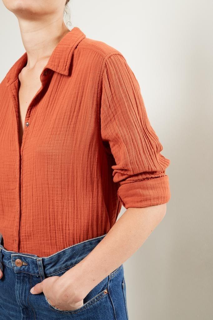 Xirena - Scout chelsea gauze shirt poppy