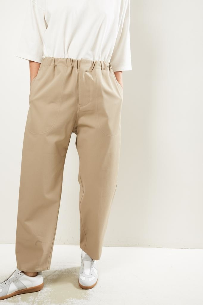 Sofie d'Hoore Pose high twisted cotton twill trousers