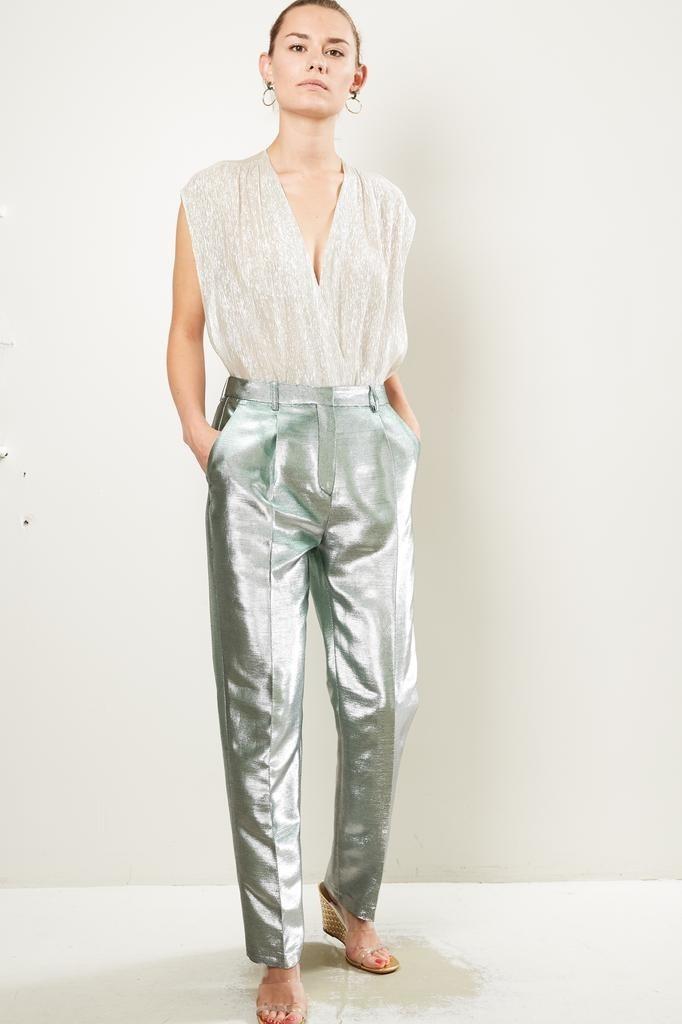 inDRESS Lurex canvas pants