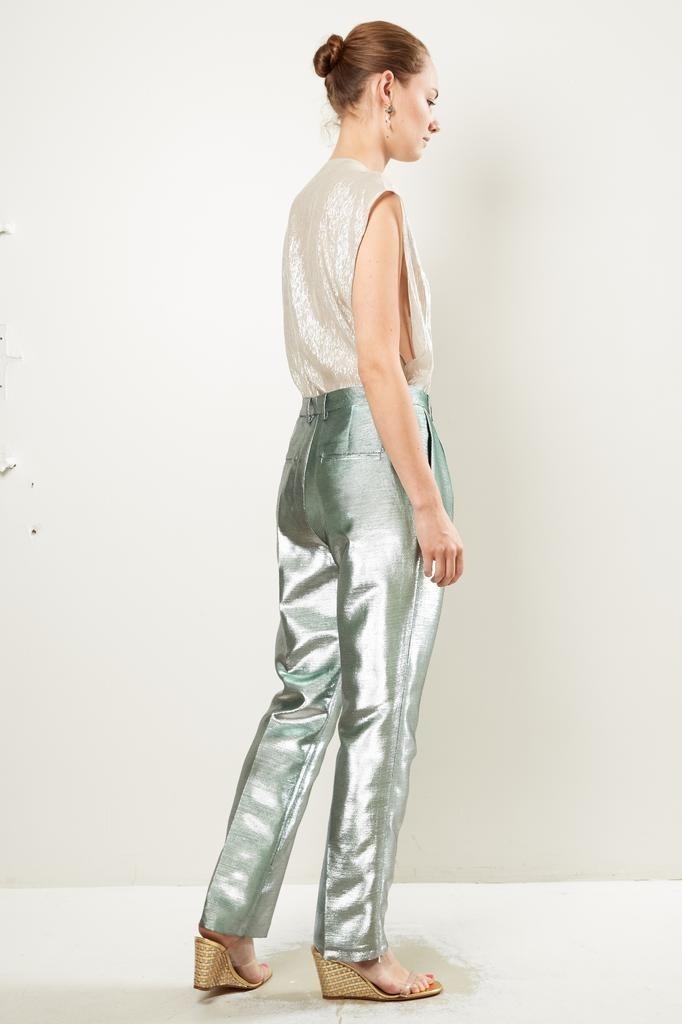 inDRESS - Lurex canvas pants