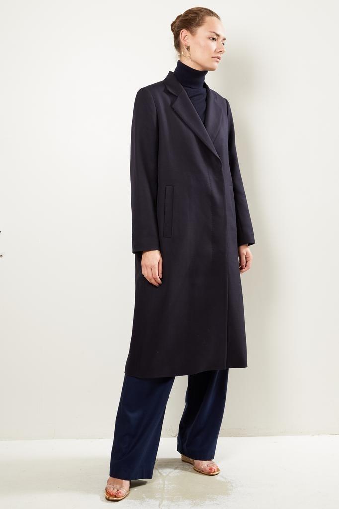 inDRESS - Water repellent long coat dark blue