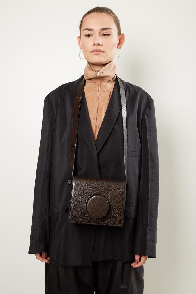 Lemaire Leather shoulder bag.