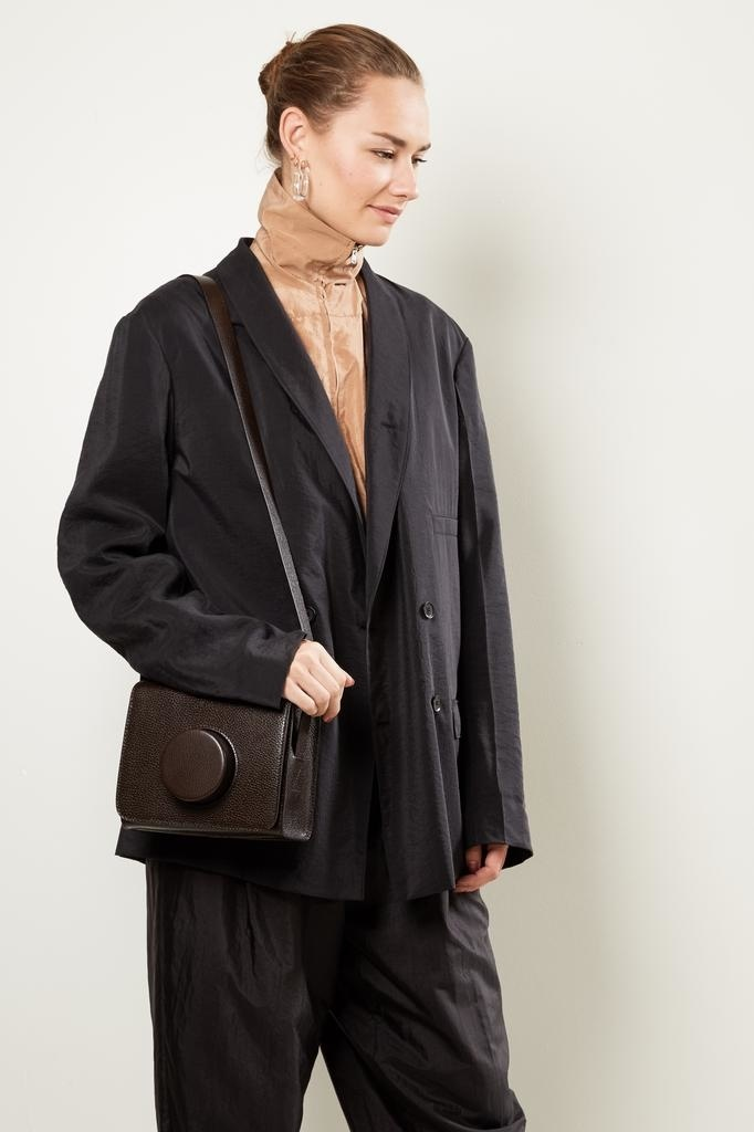 Lemaire - Leather shoulder bag.