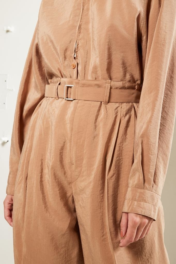 Lemaire - High waisted belted trousers.