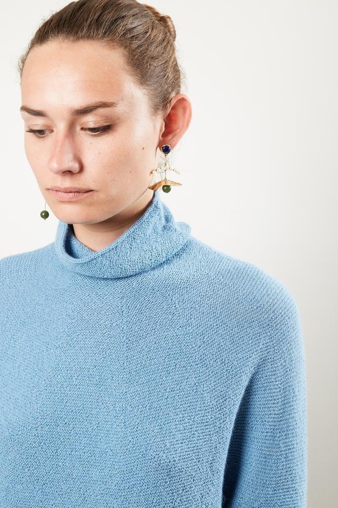 Christian Wijnants Kaleza roundknit turtleneck sweater light blue
