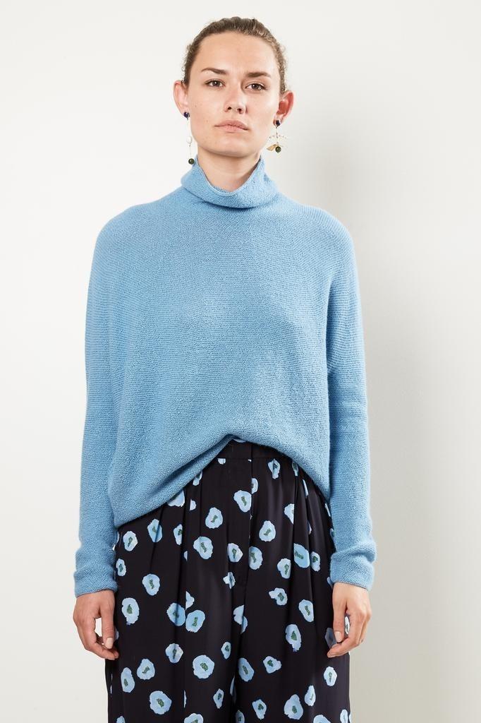 Christian Wijnants - Kaleza roundknit turtleneck sweater light blue