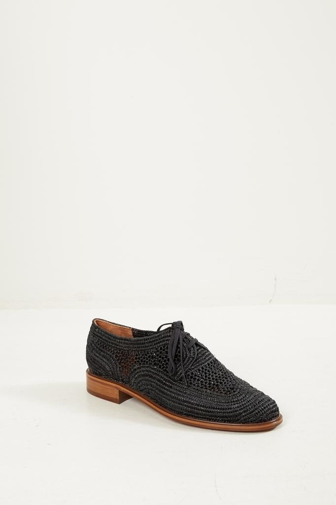 Clergerie Paille lace up shoes Black.