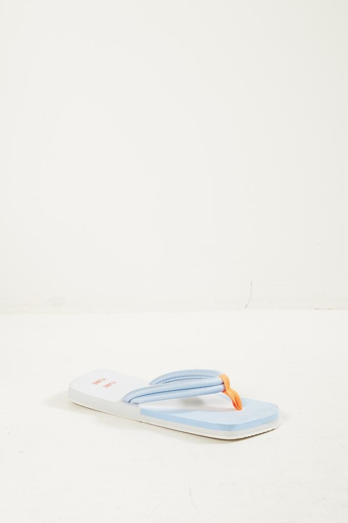 Yume Yume Xigy japanese foam flip flops glacier grey cerulean orange