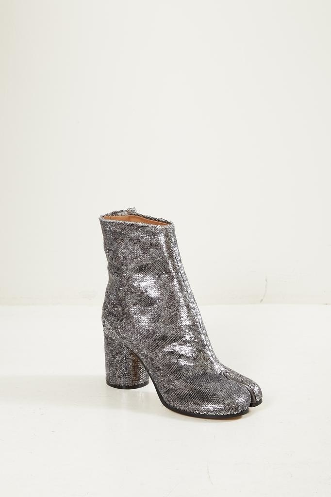 Maison Margiela Tabi 70mm sequined boots.