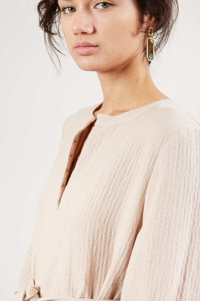 Mara Hoffman JUNE ORGANIC COTTON LINEN WOVEN DRESS
