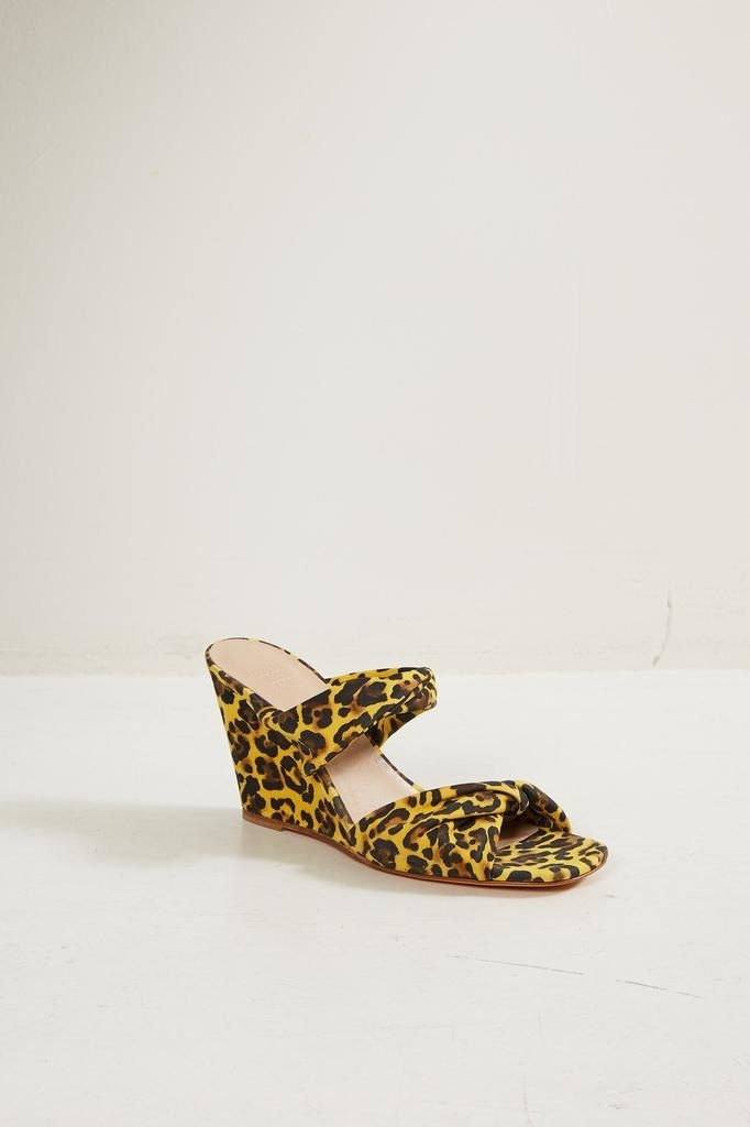 Maryam Nassir Zadeh Carine cheetah suede wedge