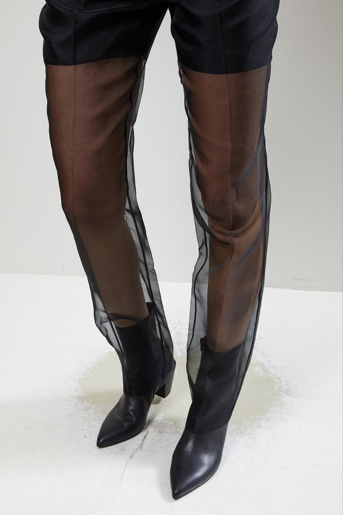 Helmut Lang - Straight leg organza pants