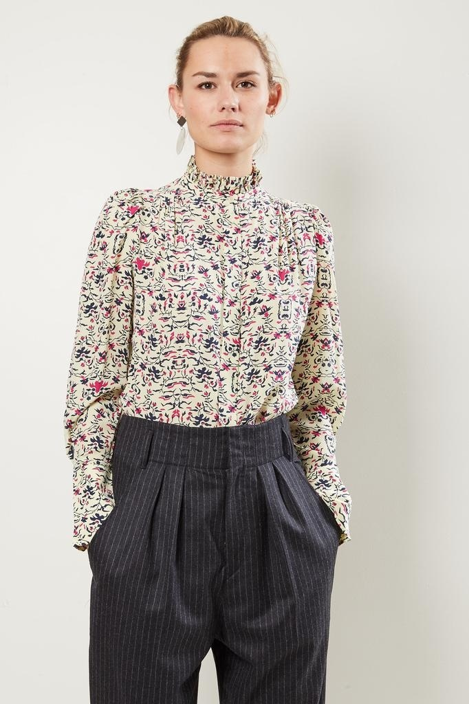 Isabel Marant Lamia pie crust collar shirt.
