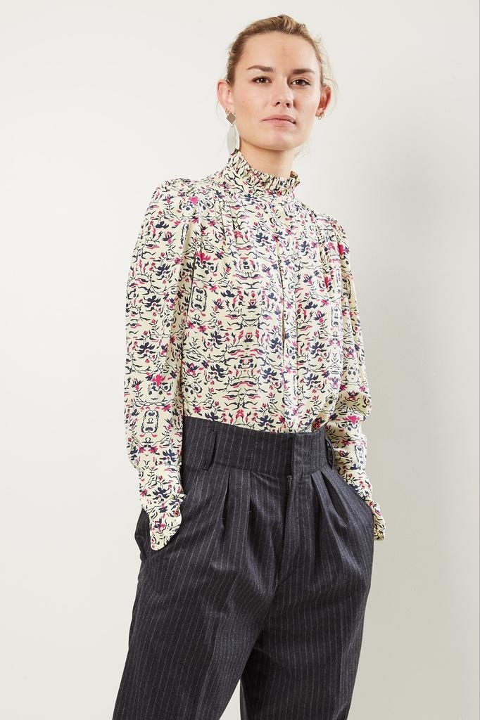 Isabel Marant - Lamia pie crust collar shirt.