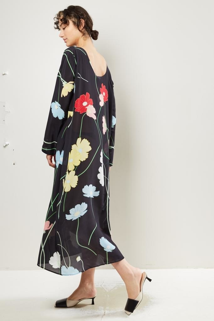 Bernadette Katy wild flower print silk dress.