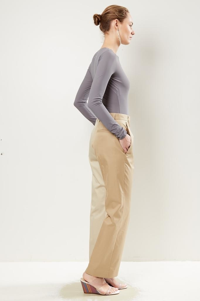 MM6 - two-tone flared trousers