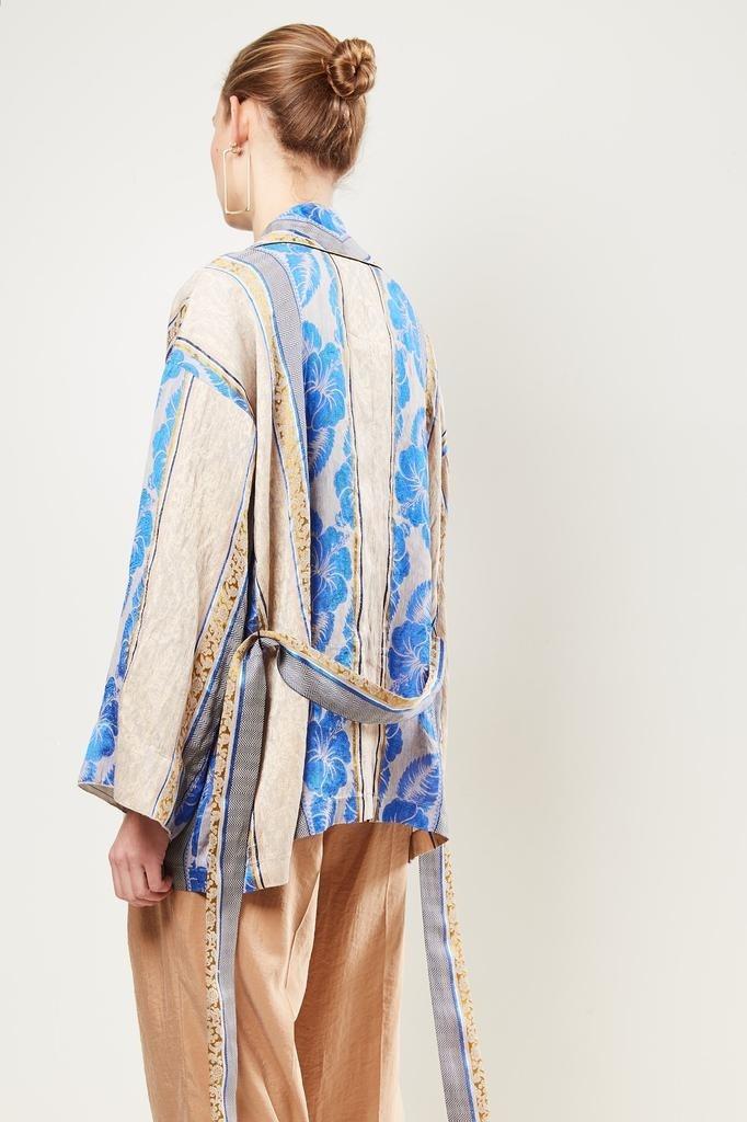 Forte Forte - Panelled pattern tie waist jacket.