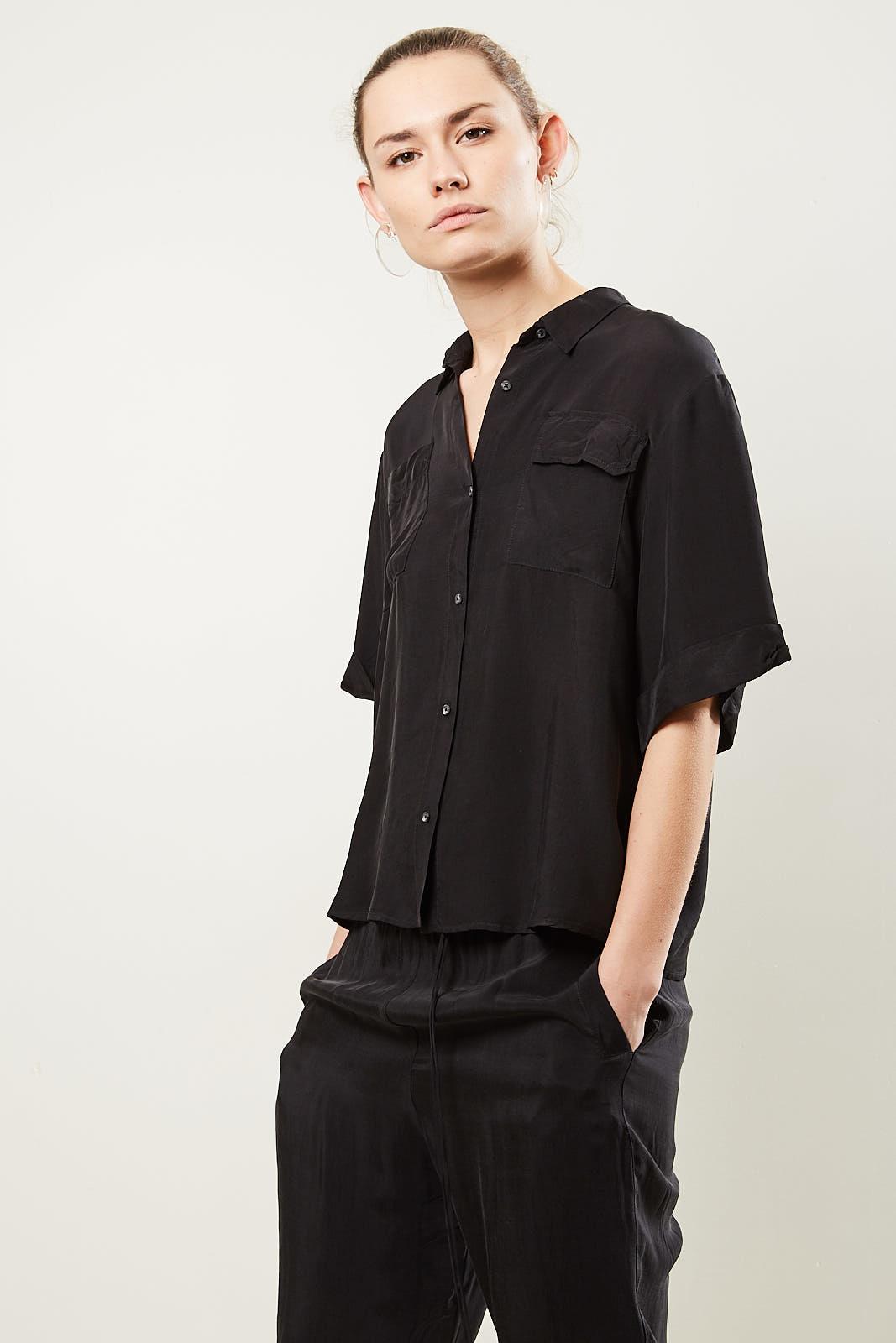 Humanoid - Daelo diamond blouse blackish