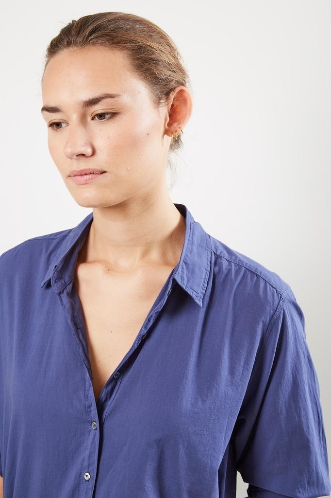 Xirena - Beau cotton poplin shirt Blue moon