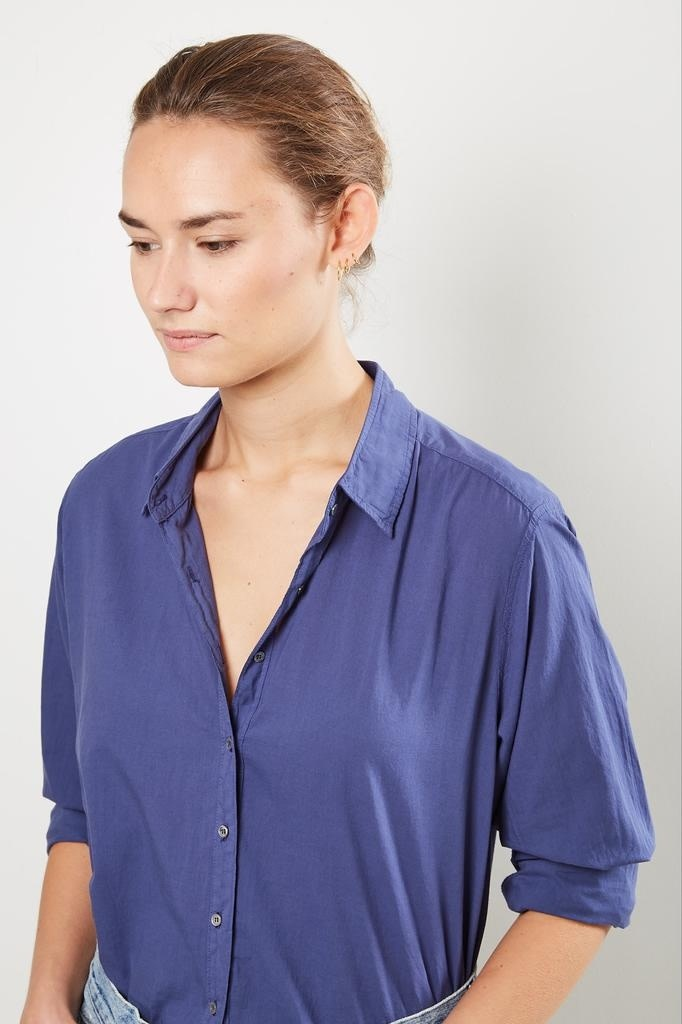 Xirena Beau cotton poplin shirt Blue moon