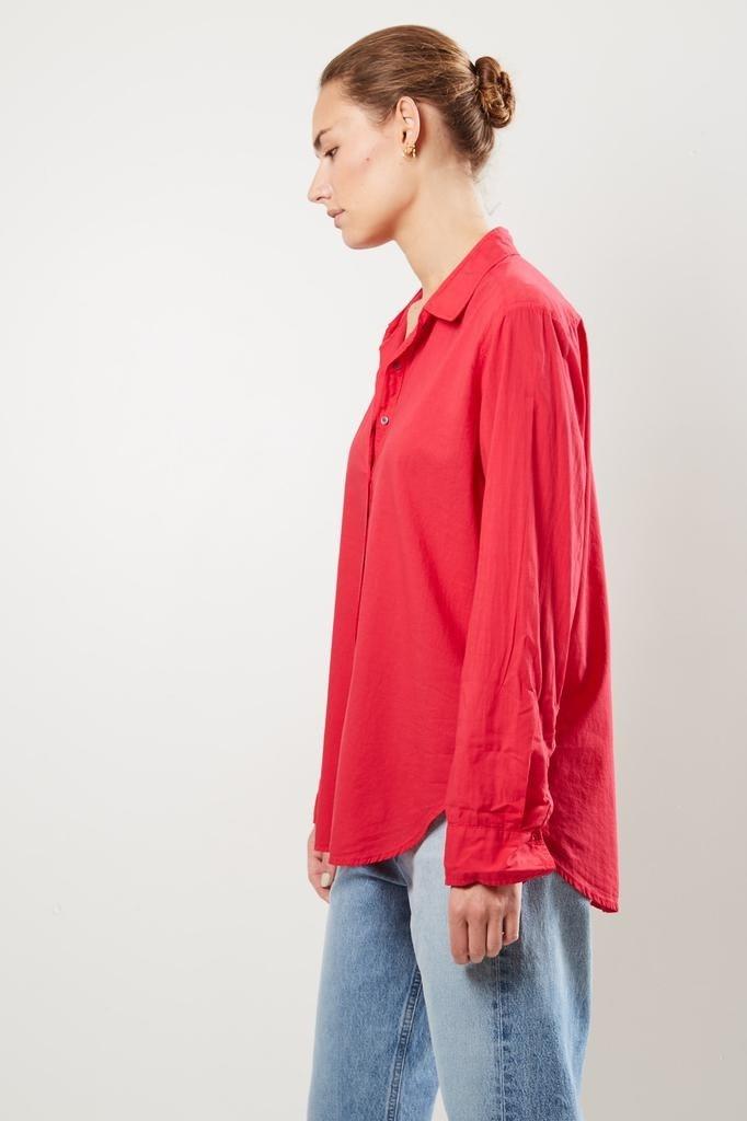 Xirena - Beau cotton poplin shirt roset