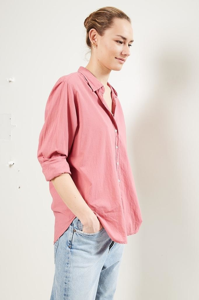 Xirena Beau cotton poplin shirt new blush nebl