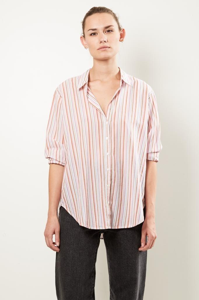Xirena - Beau corsica stripe shirt copper blush