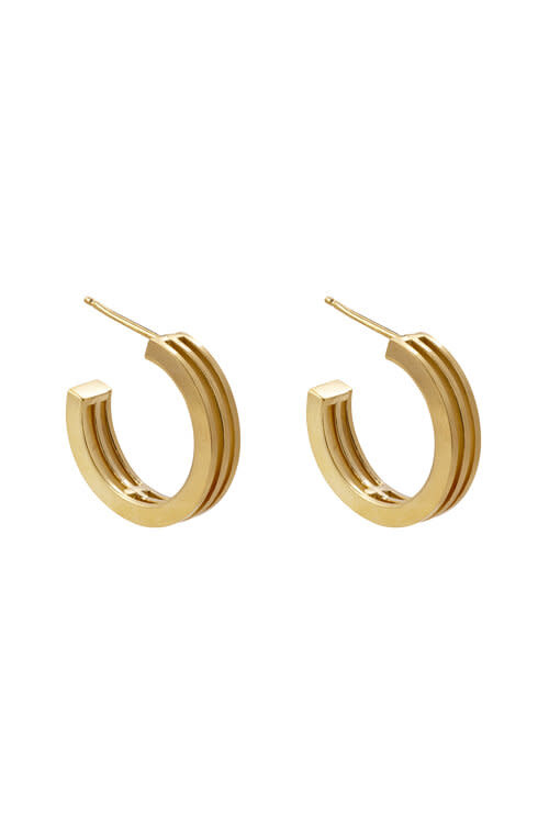 Studio Collect layered graphic hoop earrings
