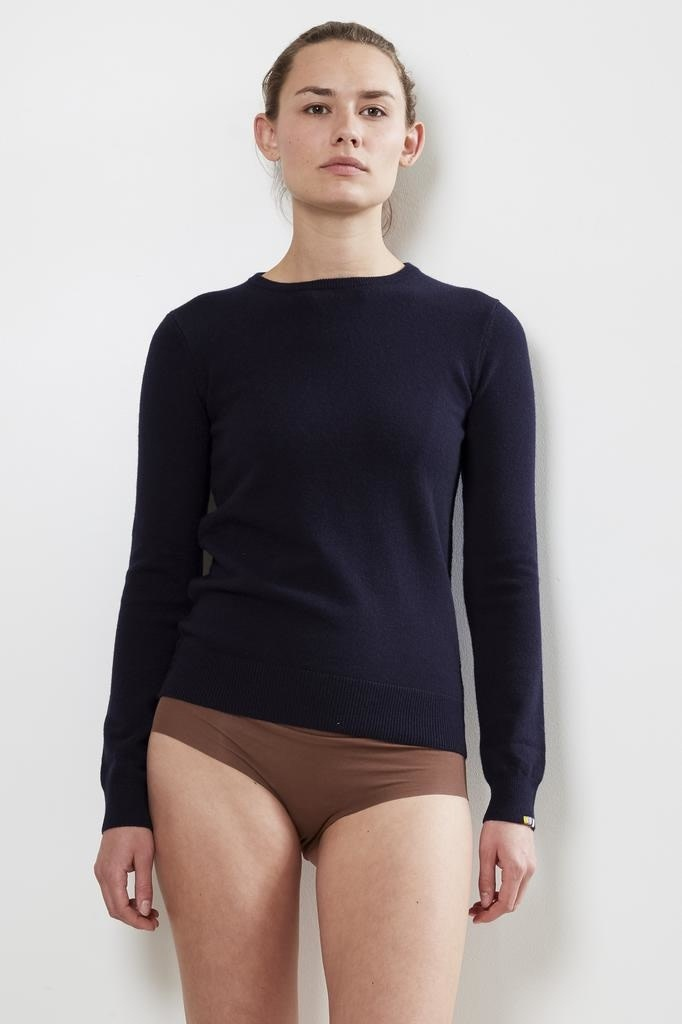 extreme cashmere No41 classic fitted body navy