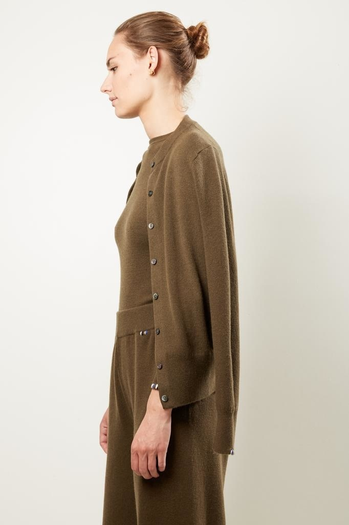extreme cashmere - No99 little small classic cardigan brown