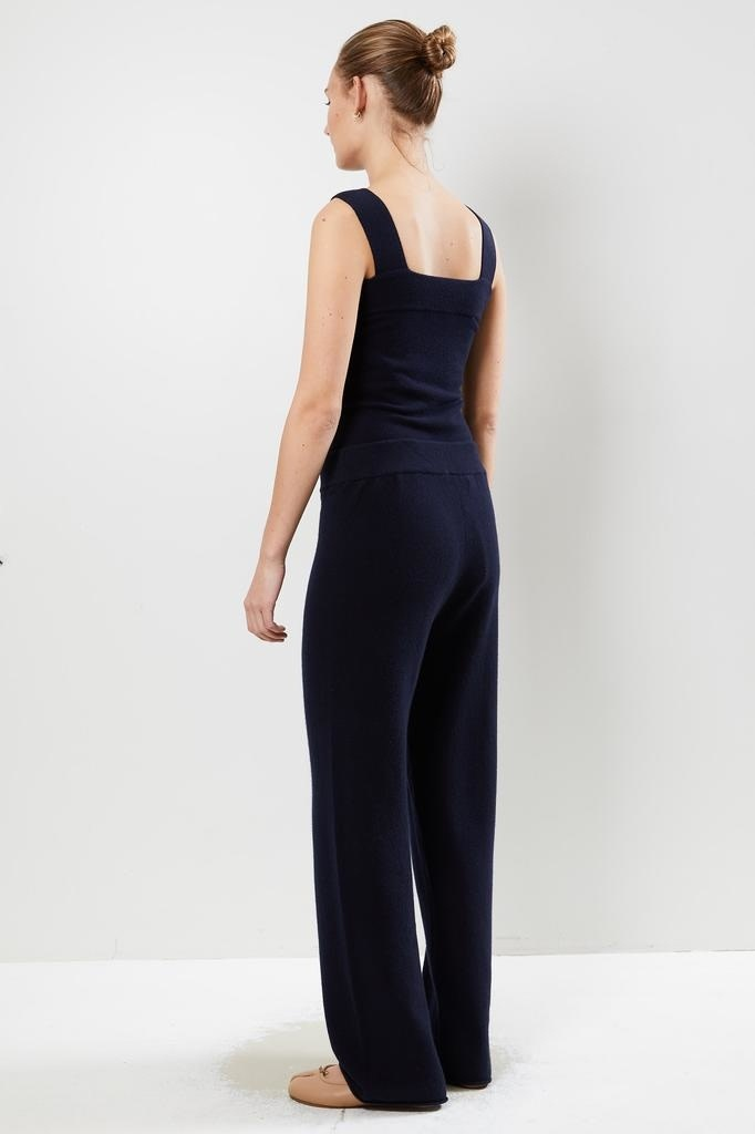 extreme cashmere - No104 wide leg trousers navy