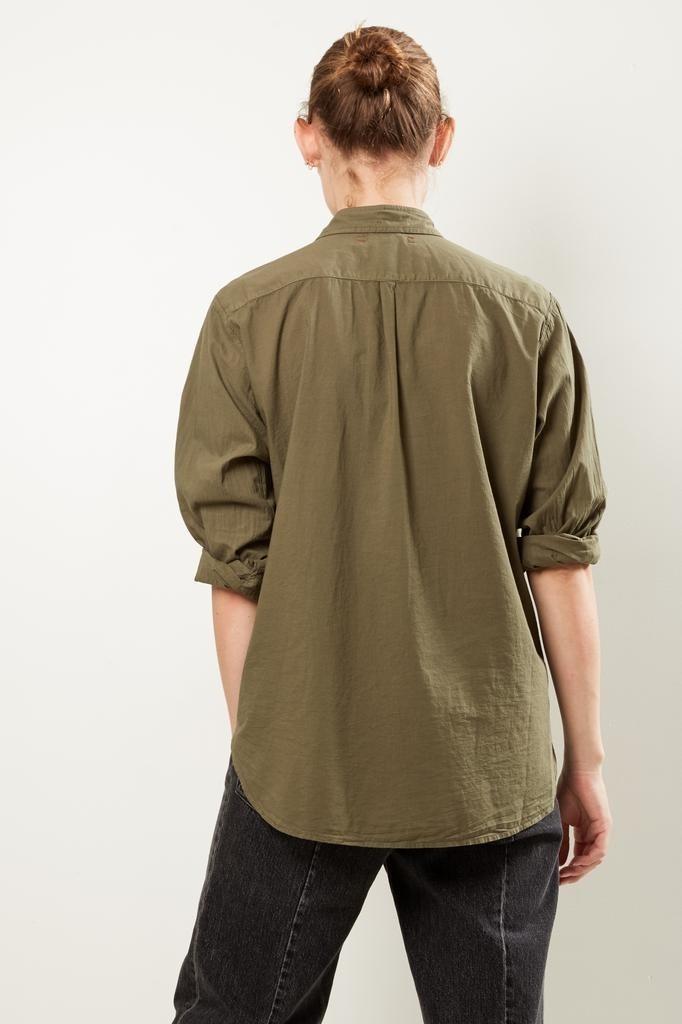 Xirena - Beau cotton poplin shirt bottle green