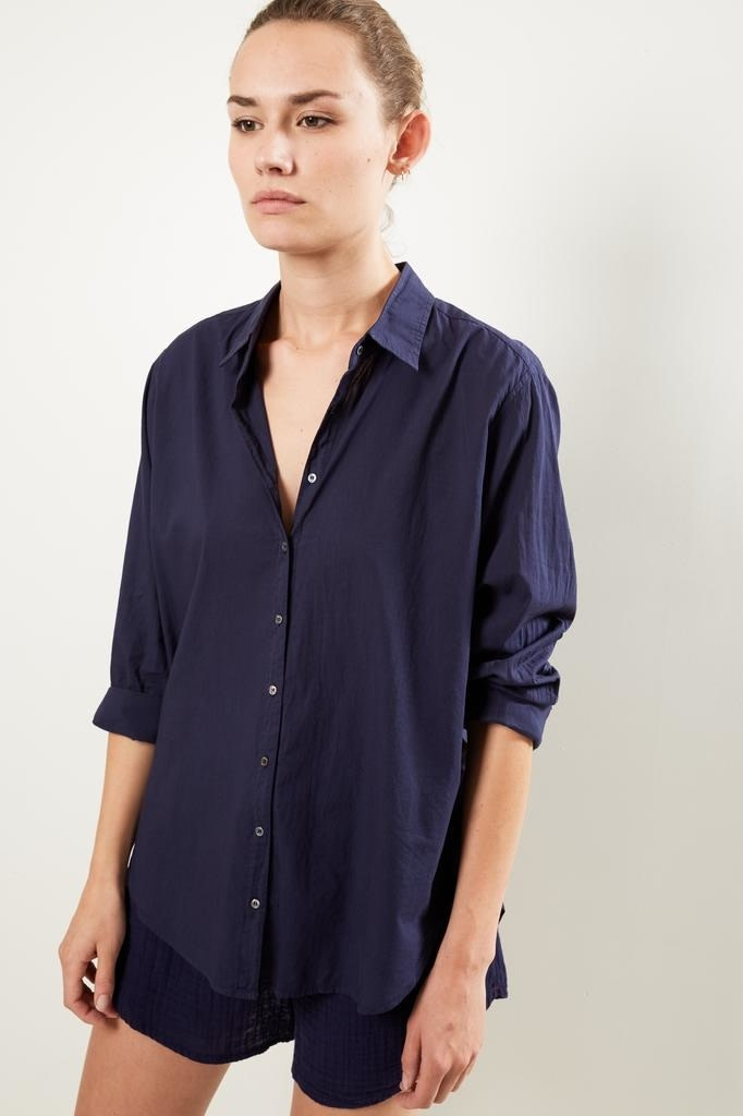 Xirena Beau cotton poplin shirt peacoat