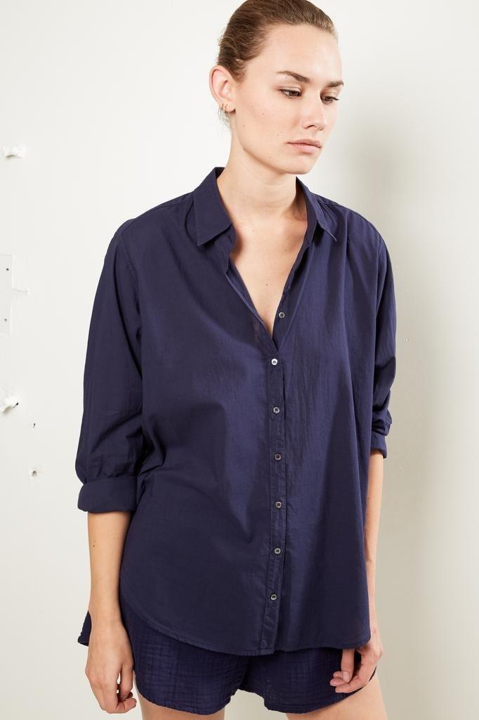 Xirena - Beau cotton poplin shirt peacoat