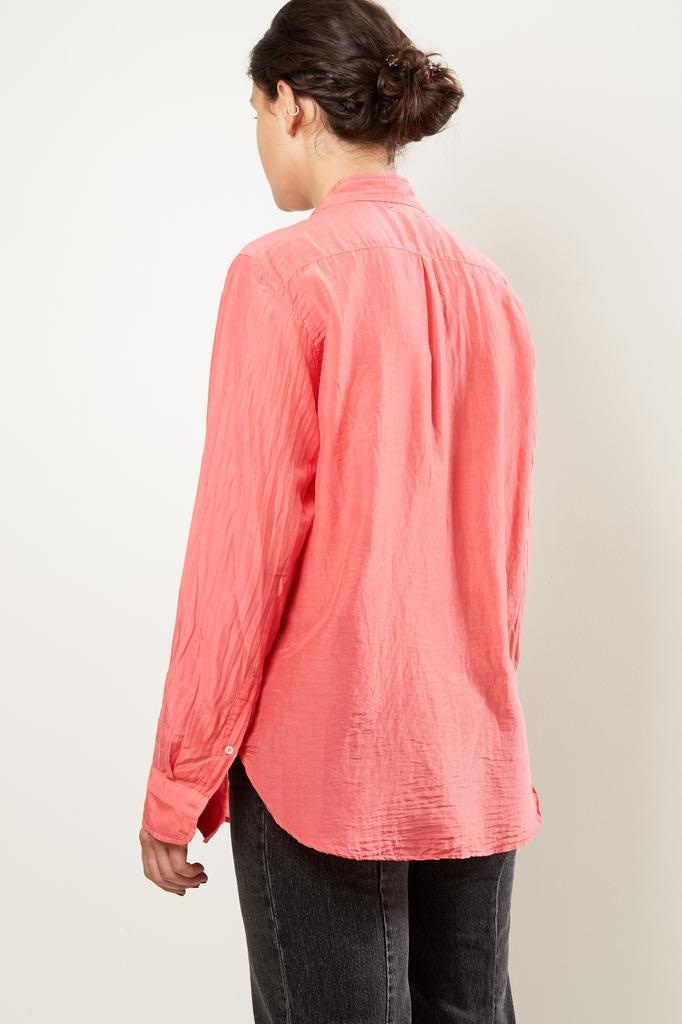 Xirena - Beau silk cotton shirt coral
